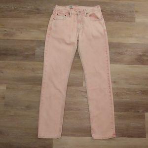 Levi's 511 Men's Peach Colored Irregular Jeans
